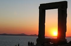 Monuments and Places in Naxos Greece
