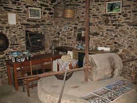 The old olive press in Koronos Naxos Greece