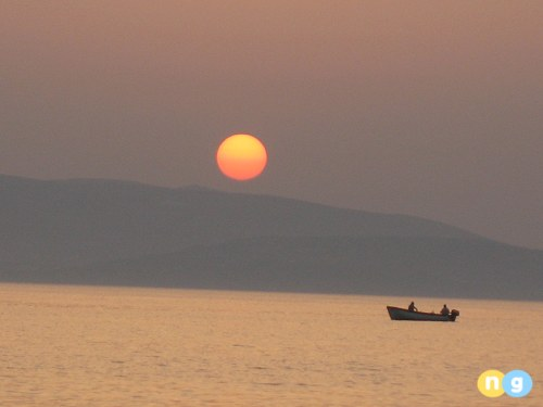 Sunset in Naxos Greece